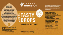 Tasty Drops 4 Pets CBD (100/200 MG CBD)