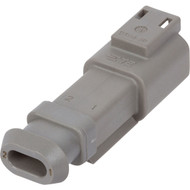 DT04-2P-E008 | Deutsch DT Series 2 Way Male Plug with Shrink Tube Modification