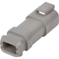 DT04-4P-E008 | Deutsch DT Series 4 Way Male Plug with Shrink Tube Modification