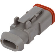 DT06-2S-E008 | Deutsch DT Series 2 Way Female Receptacle with Shrink Tube Modification