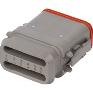 DT06-12SA-E008 | Deutsch DT Series 12 Way Female Receptacle with Shrink Tube Modification