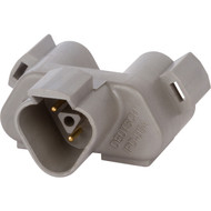 DT04-3P-P007 | Deutsch DT Series 3 Way Gray Y Receptacle Plug