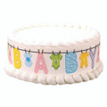 Baby Shower Clothesline Edible Cake Border Decoration 3 Pack