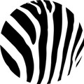 Zebra Print Edible Cupcake Toppers Decoration