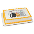 Happy Birthday Cats Edible Icing Image