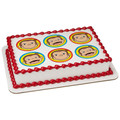 Curious George Let's Celebrate Edible Icing Image