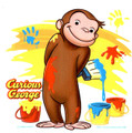 Cute Curious George Monkey Edible Cake Image Topper