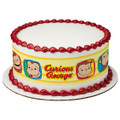 Curious George Monkey Edible Icing Image Cake Border