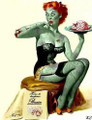 Cute Female Zombie Edible Icing Image