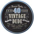 40th Birthday Vintage Dude Aged 40 Years Edible Icing Image