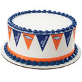 NFL Broncos Pennant ~ Edible Icing Image Border Strips