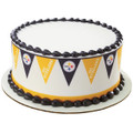 NFL Steelers Pennant ~ Edible Icing Image Border Strips