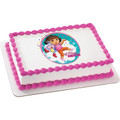 Dora the Explorer Adventure Awaits ~ Edible Icing Image