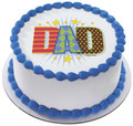 Dapper Dad ~ Edible Icing Image