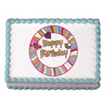 Cutie Pie Birthday ~ Edible Icing Image