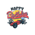 Vintage Racing Birthday ~ Edible Icing Image