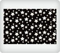 White Stars on Black ~ Edible Icing Image