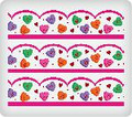 Candy Hearts ~ Edible Icing Image Border Strips