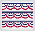 Patriotic Banner ~ Edible Icing Image Border Strips