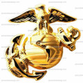 Military - Marines Emblem ~ Edible Icing Image