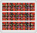 Red Plaid ~ Edible Icing Image Border Strips