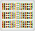 Carnival Harlequin ~ Edible Icing Image Border Strips