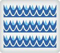 Waves ~ Edible Icing Image Border Strips