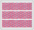 Pink, White & Blue Hearts ~ Edible Icing Image Border Strips