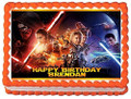 Star Wars Force Awakens Personalized Edible Cake Topper Image
