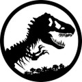 Jurassic World Park Logo ~ Edible Icing Image
