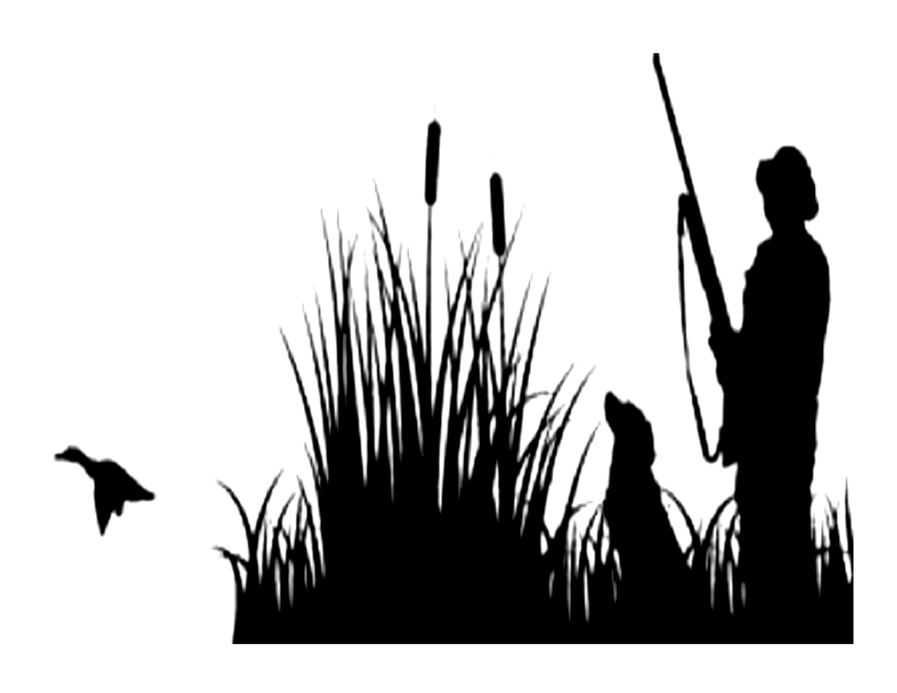 Duck Hunting Silhouette Edible Icing Image Whimsical