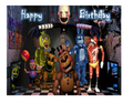 Five Nights Edible Icing Image