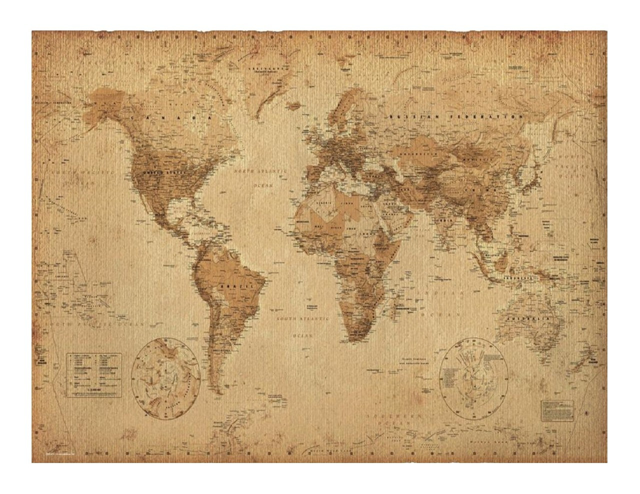 Old World Map Edible Icing image for 1/4 sheet cake - Whimsical ...