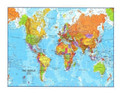 World Color Map Edible Icing Image for 1/4 sheet cake