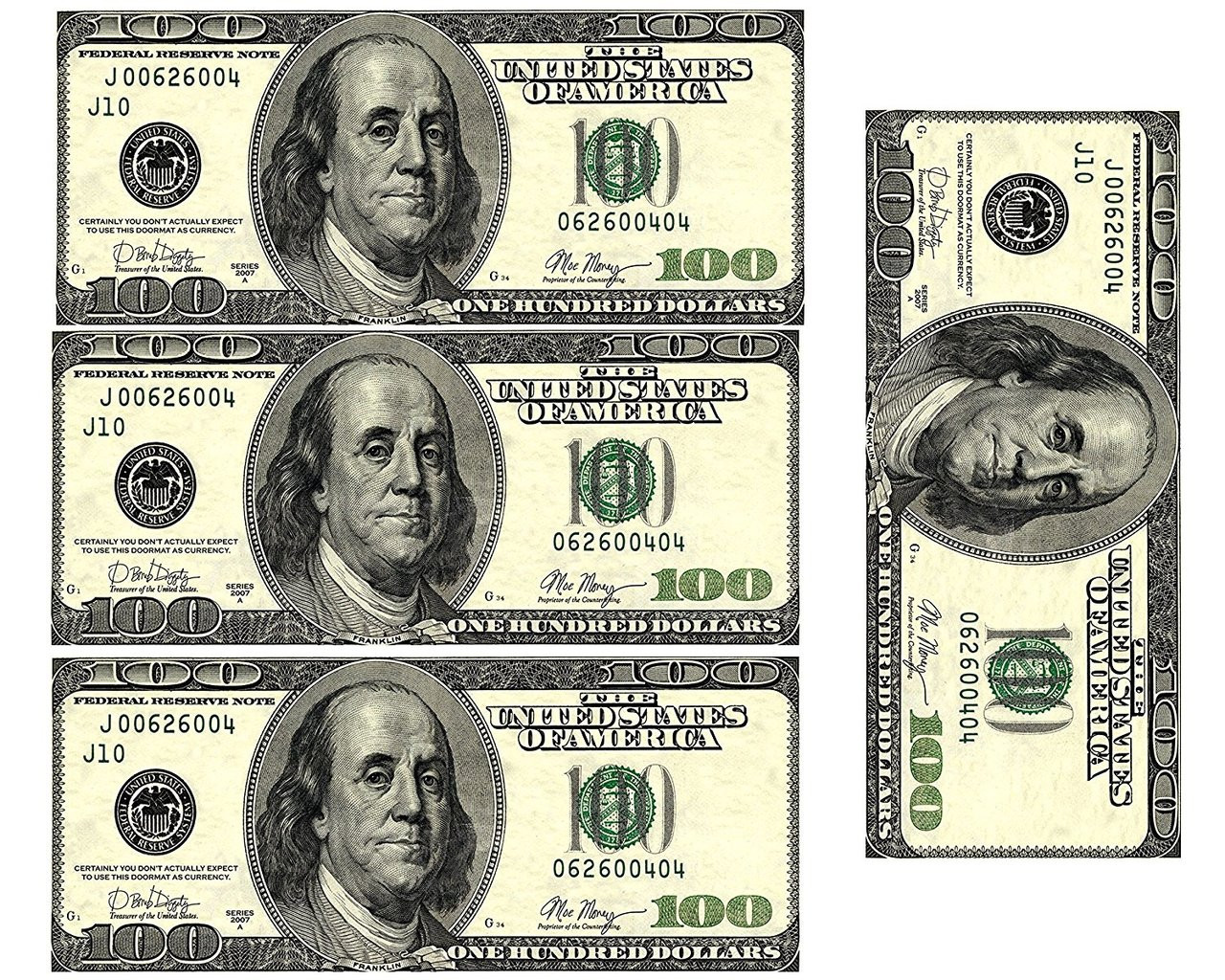 It is a photo of Dynamic Printable 100 Dollar Bill Template