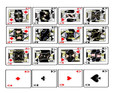 Royal Flush Edible Playing Cards Edible Icing Imagem for 1/4 sheet