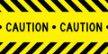 Caution Tape Edible Designer Prints Cake Border  (3 Strips)