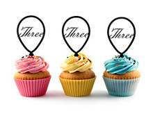 3rd (Third) Birthday Acrylic Cupcake Toppers 12 pcs   Decorate on cupcake, fruit or other desserts. It can be great addition to your party. Cupcake Toppers for your fairy cakes, cupcakes and celebration cakes Product friendly food safe Made in the USA
