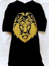 Gold Glitter Lion Shirt