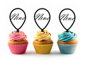 9th (Nine) Birthday Acrylic Cupcake Toppers 12 pcs  Decorate on cupcake, fruit or other desserts. It can be great addition to your party. Cupcake Toppers for your fairy cakes, cupcakes and celebration cakes Product friendly food safe Made in the USA