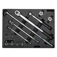 Sealey Tool Tray with Ratchet, Torque Wrench, Breaker Bar & Socket Adaptor Set 13pc