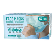 3 Layer Disposable Face Covering (Box of 50)
