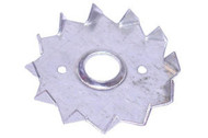 Galvanised 50mm Single Sided Timber Connectors M12 Hole (Per 100)