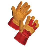 Tekhide Premium Leather Handling Rigger Gloves (Large)