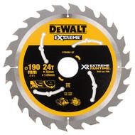 Dewalt XR Extreme Circular Saw Blade 190mm x 30mm x 24T