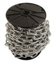 Straight Link Side Welded Chain - Zinc Plated (Per Reel)