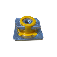 Yellow M8 Plastic Integrated Channel Nut (Box 100)