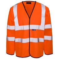Standard Long Sleeved Hi-Vis Jerkin/Vest Orange