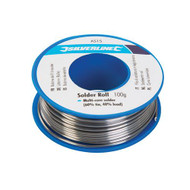 Silverline Flux Covered 1mm Solder Wire 100g Roll