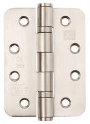 Satin Stainless 102mm x 76mm x 3mm  Ball Baring CE13 Hinges - Radius Per Pair